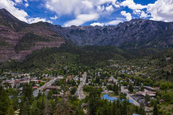 Town of Ouray Picture from Drone Photographer