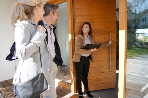 Western Slope couple viewing a house that they saw online